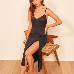 Reformation Brianna Dress - Black - Size 6